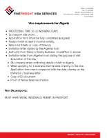 Algeria Visa Requirements