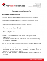Australia Visa Requirements for Business