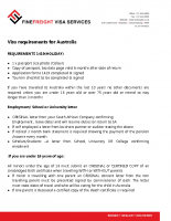 Australia Visa Requirements for Holiday ( 1419 )