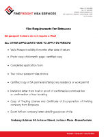 Botswana Visa Requirements