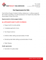 Chile Visa Requirements