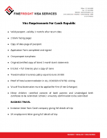 Czech Republic Visa Requirements