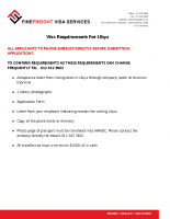 Libya Visa Requirements