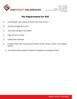 Mali Visa Requirements