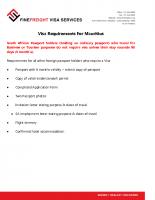 Mauritius Visa requirements
