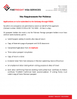 Pakistan Visa Requirements