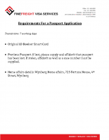 Passport Application Requirements
