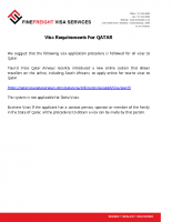 Qatar Visa Requirements