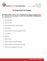 Senegal Visa Requirements
