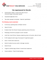 Slovakia Visa Requirements