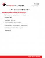 Swaziland Visa Requirements