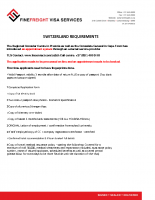 Switzerland Visa Requirements