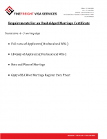 Unabridged Marriage Certificate Requirements