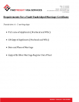 Unabridged Vault Marriage Certificate Requirements